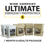 1 Month Prepper Pack for 4 Adults - Wise Company