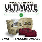3 Month Ultimate Prepper Pack for 4 Adults  - Wise Company