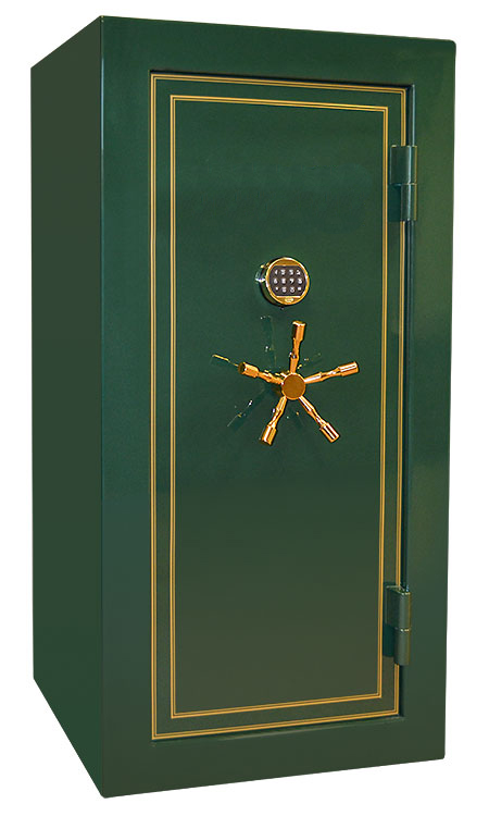 Eagle Series Gun Safe in green gloss finish