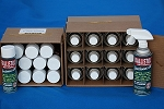 Package 9 - 1 box of 12 16oz. non-Aerosol cans and 1 box of 12 6oz. Aerosol cans. 24 cans in total