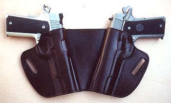 Western knife belt holster