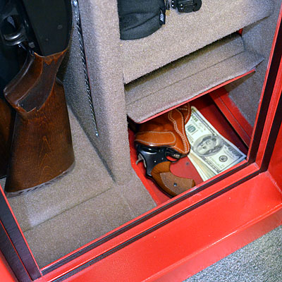 Hidden safe compartment with valuables