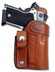 INSIDE THE WAIST WITH BELT LOOP DOUBLE THICK REINFORCED LEATHER GUN HOLSTER