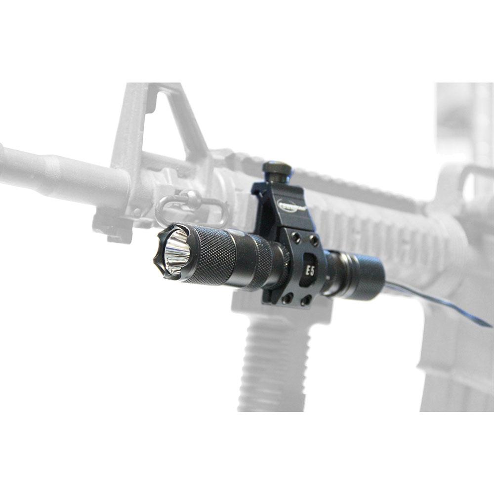 PowerTac E5 980 Lm Flashlight  Weapon Kit pressure switch off set weapon mount