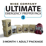 3 Month Ultimate Prepper Pack for 1 Adult - Wise Company