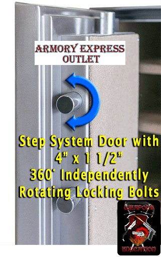 step system fire resistant safe door