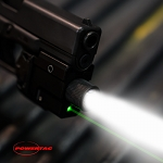Marksman 550 Lumen LED Tactical Flashlight and Green Laser Light - Rechargeable Batteries / Charger Included