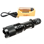 Warrior G3 - 1050 Lumen Tactical Flashlight Recharge Package