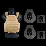 AR550 Body Armor Swimmers Cut and Spartan Plate Carrier Package *SPECIAL