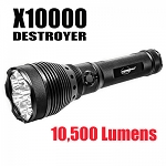 X10,000 Destroyer 10,500 Lumen Recharegeable LED Flashlight