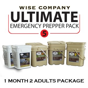 1 Month Prepper Pack for 2 Adults - Wise Company