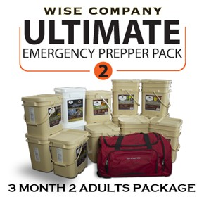 3 Month Ultimate Prepper Pack for 2 Adults - Wise Company