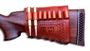 "TOM'S ""RIFLE BUTT STOCK AMMO HOLDER"" CUSTOM MADE FOR YOUR GUN AND AMMO. CALL: 954-804-4381"