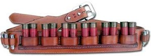 "TOM'S ""SHOTGUN DUAL SHELL BELT"" - WITH INDIVIDUAL STICHED HANDGUN AMMO CARRIERS"