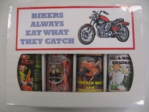 4 Pack Gift Box - Bikers Always Eat What They Catch