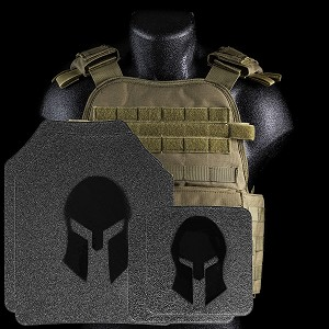 Spartan Armor/Condor Defender Extra Large Plate Carrier and AR500 Body Armor Platform - Call 954-804-4381 with ordering questions.