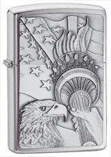 Eagle and Lady Liberty torch