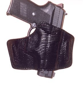 "TOM'S ""LIZARD EXOTIC SKIN SEMI-AUTO HOLSTER"" DOUBLE THICK STEEL MESH REINFORCED LEATHER"