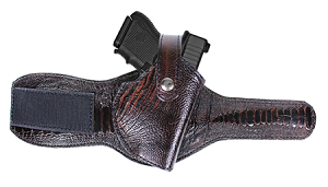 "TOM'S ""EXOTIC SKIN ANKLE HOLSTER"" MULTIPLE SKINS AVAILABLE - CALL: 954-804-4381. DOUBLE THICK STEEL MESH REINFORCED LEATHER"
