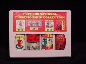 4 Pack Gift Box - Peppers National Championship Collection - Red Label