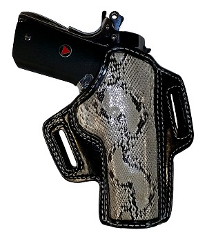 "TOM'S ""PERSONAL DESIGN"" PYTHON EXOTIC SKIN HOLSTER - HANDMADE FOR ANY PISTOL"