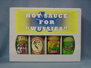"4 Pack Gift Box - Hot Sauce For ""Wussies"""